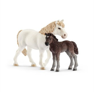 Schleich Hand-Painted Figure Pony Mare and Foal