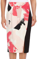 Ellen Tracy Printed Pencil Skirt