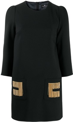 Elisabetta Franchi Chain-Link Detail Shift Dress