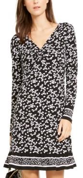 Michael Kors Michael Printed Ruffled-Hem Dress
