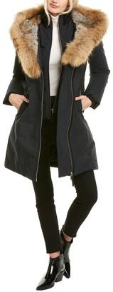 Mackage Trish-F Leather-Trim Coat