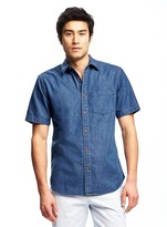 Old Navy Slim-Fit Classic Denim Shirt For Men
