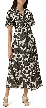 Hobbs London Maria Leaf Print Wrap Dress - 100% Exclusive