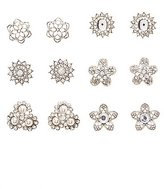 Charlotte Russe Embellished Flower Stud Earrings - 6 Pack