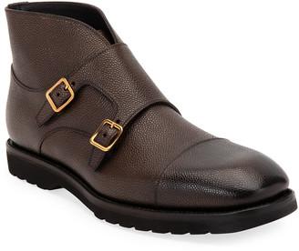 Tom Ford Men's Kensington Double-Monk Boots