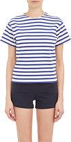 "Nlst Women's Stripe ""True"" T-shirt-BLUE, WHITE"