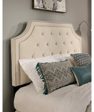 Darby Home Co Difranco Upholstered Wingback Headboard and Sofa Bench Size: California King, Color: Ivory