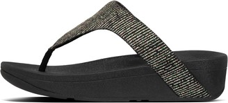 FitFlop Lottie Glitter-Stripe Toe-Thongs
