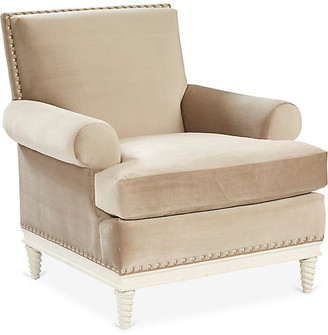 Mr & Mrs Howard Pairs Accent Chair - Latte Velvet