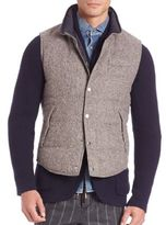 Brunello Cucinelli Wool-Blend Reversible Tweed Vest