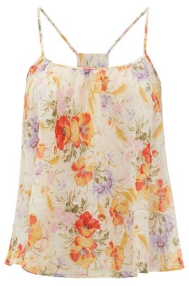 Loup Charmant Floral-print Organic-cotton Cami Top - Yellow Print