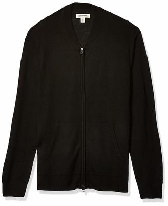 Goodthreads Amazon Brand Men's Lightweight Merino Wool/Acrylic Bomber Sweater