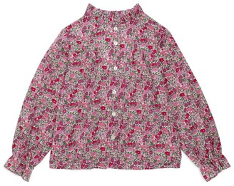 Trotters X Liberty Poppy Ruffle Blouse (2-12 Years)