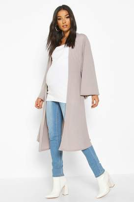boohoo Maternity Belted Duster Jacket