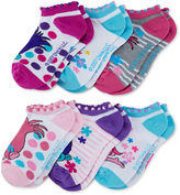 Asstd National Brand Trolls Women's 6 Pair No Show Socks
