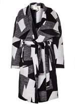 Yumi Monochrome Waterfall Coat