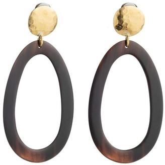 Natori Buffalo Nail Oval Earrings