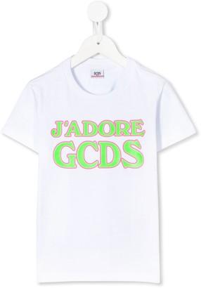 Gcds Kids J'Adore GCDS crew neck T-shirt