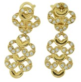 Van Cleef & Arpels 18K Yellow Gold 2.30 Ct Diamond Gold Dangle Earrings