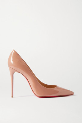 Christian Louboutin Pigalle 100 Patent-leather Pumps - Neutral