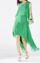 BCBGMAXAZRIA Marilee Draped Tiered Gown