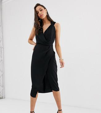 Asos Tall ASOS DESIGN Tall wrap front midi dress