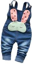 Kidscool Baby Cotton Denim Cute 3D Rabbit Soft To Wear Overalls