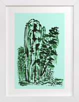Minted Mint Mountain Art Print