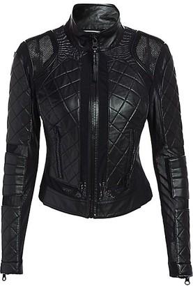 Blanc Noir Leather Moto Jacket