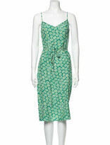 Thumbnail for your product : HVN Lily Slip Midi Length Dress Green