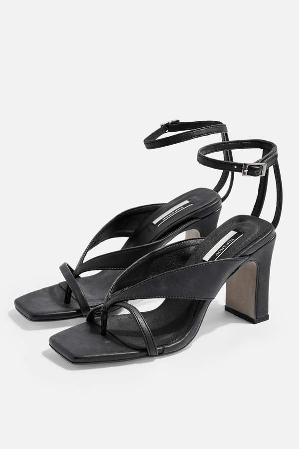 708ffd589 Black Heeled Sandal Topshop - ShopStyle