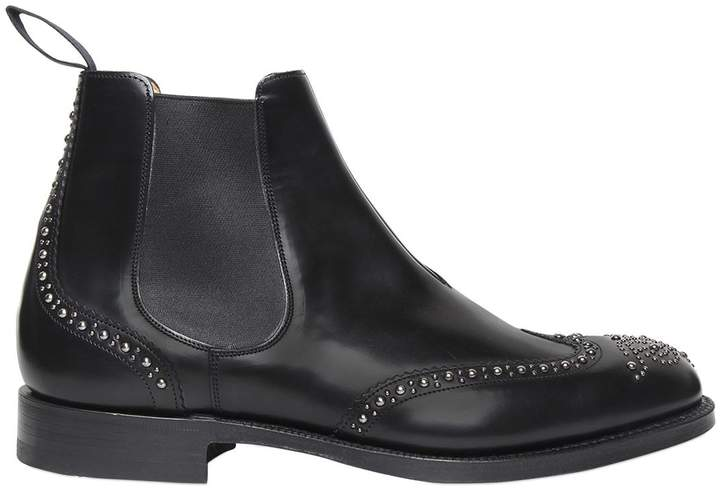 Church's Studded Brushed Leather Chelsea Boots