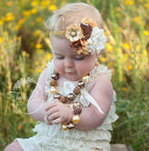 Etsy Bubblegum Necklace and Baby Headband SET,Baby Headbands, Little girls Chunky Necklace, Baby Headband
