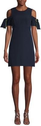 Milly Tie-Sleeve Mini Dress