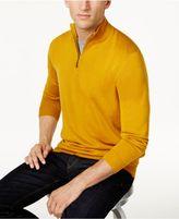 Club Room Men's Quarter-Zip Merino Performance Sweater, Created for Macy's