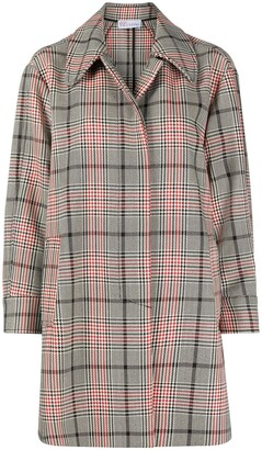 RED Valentino Glen-check car coat