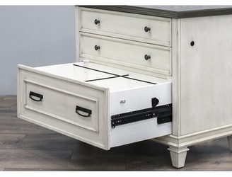 Django 2 Drawer Lateral Filing Cabinet 17 Stories Color: Distressed Aged White