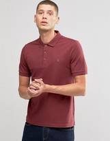 Farah Polo Shirt In Regular Fit In Port