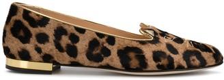 Charlotte Olympia Leopard Print Ballerina Shoes