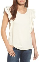 Caslon Ruffle Sleeve French Terry Tee