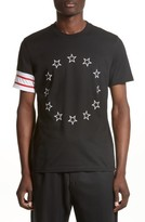 Givenchy Men's Cuban Fit Circle Star Graphic T-Shirt