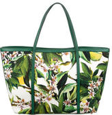 Dolce & Gabbana Floral Print Canvas Tote