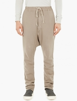 Rick Owens Grey Relaxed Jersey Trousers