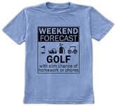 Urban Smalls Boys' Tee Shirts Heather - Heather Blue 'Weekend Forecast: Golf' Tee - Toddler & Boys