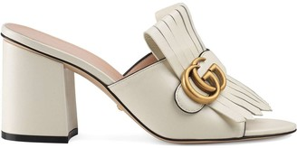 Gucci mid-heel Double G mules