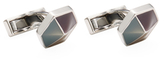 Canali Stainless Steel Hexagonal Cufflinks