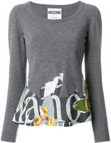 Moschino long sleeved cut away sweatshirt