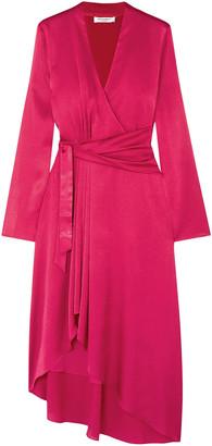 Equipment Adisa Asymmetric Wrap-effect Satin Dress