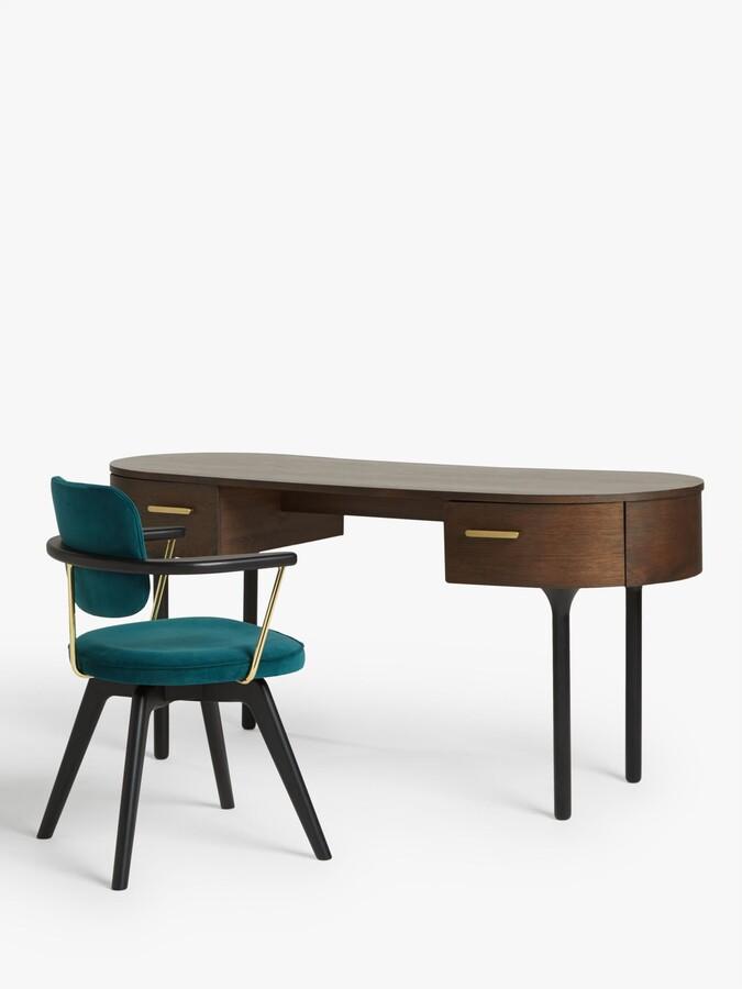 Thumbnail for your product : John Lewis & Partners Soren Velvet Office Chair