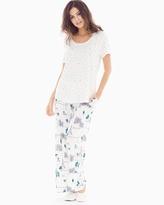 Soma Intimates Short Sleeve Pajama Set Picturesque Stars Ivory